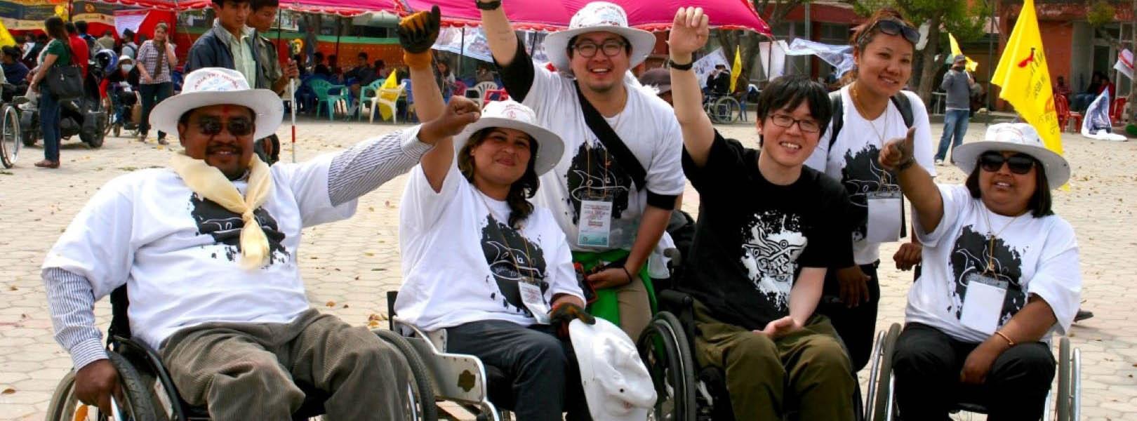 Few people in wheelchair