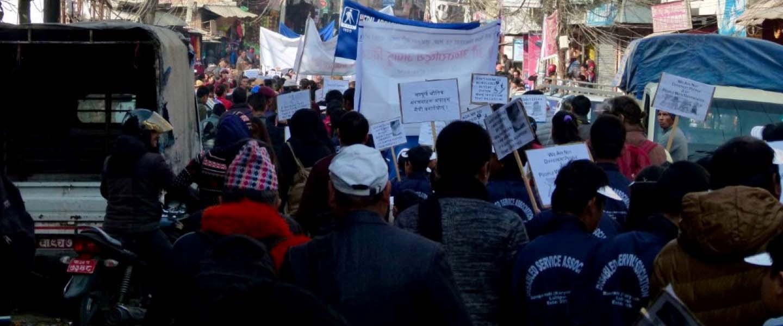 A campaign rally organized by CIL-Kathmandu